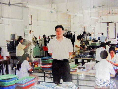 中国惠州での工場指導